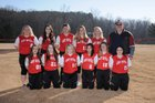 Mountain Pine Red Devils Girls Varsity Softball Spring 17-18 team photo.
