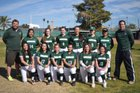 Phoenix Christian Cougars Girls Varsity Softball Spring 17-18 team photo.