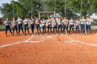 Master's Academy Patriots Girls Varsity Softball Spring 17-18 team photo.