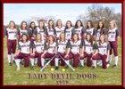 Morrilton Devil Dogs Girls Varsity Softball Spring 17-18 team photo.