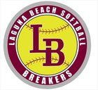 Laguna Beach Breakers Girls Varsity Softball Spring 17-18 team photo.