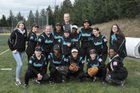 Spanaway Lake Sentinels Girls Varsity Softball Spring 17-18 team photo.