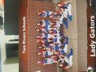 Two Rivers Gators Girls Varsity Softball Spring 17-18 team photo.