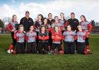 R.A. Long Lumberjacks Girls Varsity Softball Spring 17-18 team photo.