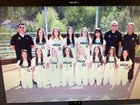 Oak Park Eagles Girls Varsity Softball Spring 17-18 team photo.