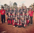 Blue Ridge Fighting Tigers Girls Varsity Softball Spring 17-18 team photo.