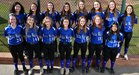Walla Walla Blue Devils Girls Varsity Softball Spring 17-18 team photo.