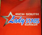 Rich South Stars Girls Varsity Softball Spring 17-18 team photo.