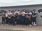 Mountain View Mountain Lions Girls Varsity Softball Spring 17-18 team photo.