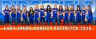 Ridgefield Spudders Girls Varsity Softball Spring 17-18 team photo.