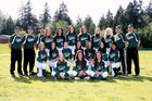 Port Angeles Roughriders Girls Varsity Softball Spring 17-18 team photo.