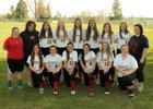 Garfield-Palouse Vikings Girls Varsity Softball Spring 17-18 team photo.