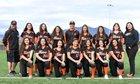 Taos Tigers Girls Varsity Softball Spring 17-18 team photo.