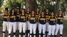 Carnegie Schools-Riverside Wolverines Girls Varsity Softball Spring 17-18 team photo.