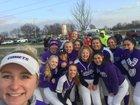 Oakwood Comets Girls Varsity Softball Spring 17-18 team photo.