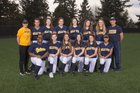 Bellevue Wolverines Girls Varsity Softball Spring 17-18 team photo.