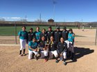 Navajo Prep Eagles Girls Varsity Softball Spring 17-18 team photo.