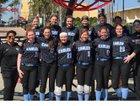 St. Benedict at Auburndale Eagles Girls Varsity Softball Spring 17-18 team photo.