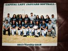 Capital Jaguars Girls Varsity Softball Spring 17-18 team photo.