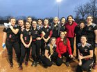 Abundant Life Owls Girls Varsity Softball Spring 17-18 team photo.