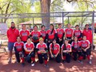 Native American Community Academy Eagles Girls Varsity Softball Spring 17-18 team photo.