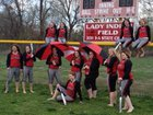 Osage City Indians Girls Varsity Softball Spring 17-18 team photo.