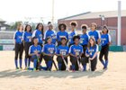 ESTEM Mets Girls Varsity Softball Spring 17-18 team photo.