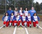 Washington Patriots Girls Varsity Softball Spring 17-18 team photo.