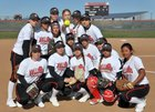 Oak Hills Bulldogs Girls Varsity Softball Spring 17-18 team photo.