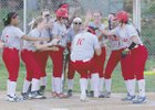 Anderson Indians Girls Varsity Softball Spring 17-18 team photo.