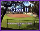 Piedmont Highlanders Girls Varsity Softball Spring 17-18 team photo.