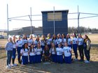 North Judson-San Pierre Bluejays Girls Varsity Softball Spring 17-18 team photo.