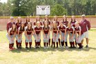 Perryville Mustangs Girls Varsity Softball Spring 17-18 team photo.