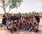 Mogollon Mustangs Girls Varsity Softball Spring 17-18 team photo.