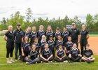 Carrboro Jaguars Girls Varsity Softball Spring 17-18 team photo.