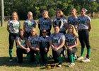 Legacy Christian Academy Black Labs Girls Varsity Softball Spring 17-18 team photo.