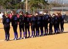 Bethel Christian Academy Trojans Girls Varsity Softball Spring 17-18 team photo.