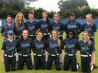 Rocky Bayou Christian Knights Girls Varsity Softball Spring 17-18 team photo.
