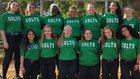 Coral Springs Colts Girls Varsity Softball Spring 17-18 team photo.
