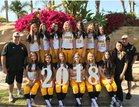 Capistrano Valley Cougars Girls Varsity Softball Spring 17-18 team photo.