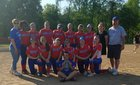 Lansdowne Vikings Girls Varsity Softball Spring 17-18 team photo.