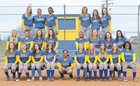 Caldwell County Tigers Girls Varsity Softball Spring 17-18 team photo.