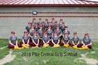 Pike Central Chargers Girls Varsity Softball Spring 17-18 team photo.