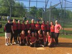 Glens Falls Indians Girls Varsity Softball Spring 17-18 team photo.