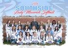 Southside Mavericks Girls Varsity Softball Spring 17-18 team photo.