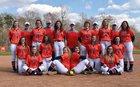 Starmount Rams Girls Varsity Softball Spring 17-18 team photo.