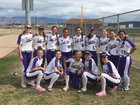 Lemoore Tigers Girls Varsity Softball Spring 17-18 team photo.