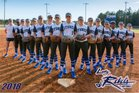 Byrnes Rebels Girls Varsity Softball Spring 17-18 team photo.