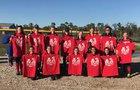 Porter Spartans Girls Varsity Softball Spring 17-18 team photo.