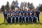 River Ridge Hawks Girls Varsity Softball Spring 17-18 team photo.